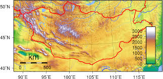 World Elevation Map by Mongolia Maps