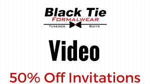 get 50 off your wedding invitations black tie formalwear