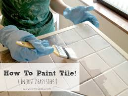 tile how to paint tiles bathroom home design new interior