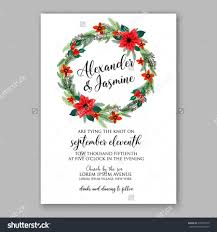 Bridal Shower Greeting Wording Poinsettia Wedding Invitation Sample Card Beautiful Winter Floral