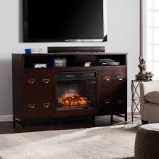 muskoka sinclair 60 in bluetooth media electric fireplace in aged