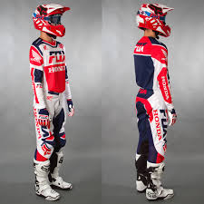 fox honda motocross gear fox motocross u0026 enduro mx combo fox 180 honda red maciag offroad