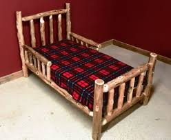 cedar log toddler bed u2014 barn wood furniture rustic barnwood and