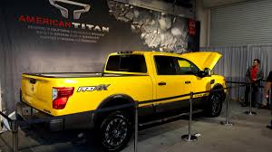 nissan titan off road the nissan titan xd with off road rims and tires rolls into shot