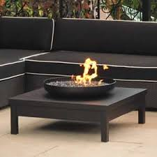 gas fire pit table uk black powder coated gas fire pit table amazon co uk garden outdoors