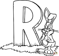 click the letter r is for rooster coloring pages to view printable