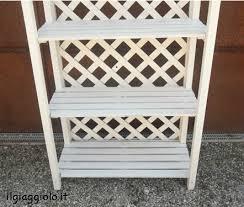 etagere legno etagere in legno di color bianco