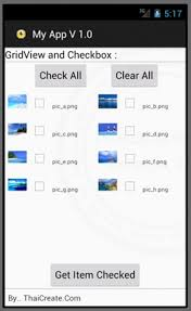 gridview android gridview and checkbox