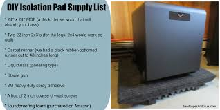 Box Cushion Pads Guest Post How To Diy A Subwoofer Isolation Pad Stephanie