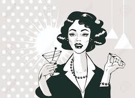 retro martini retro clip art lady cocktail search cliparts images