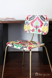 How To Paint A Leather Chair How To Decoupage Furniture For An Upholstered Look Designer Trapped
