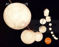 white string lights cotton balls fairy lights bedroom home