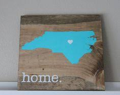 Personalized Wood Signs Home Decor North Carolina Is Home Rustic Wooden Sign Made From Reclaimed