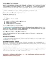 Microsoft Works Resume Template Cover Letter Resume Microsoft Word Templates Resume Microsoft Word