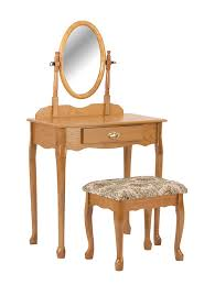 Oak Makeup Vanity Table Crown Vanity Cherry Kitchen Dining