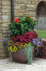 Outdoor Pots And Planters by Unique By Design L Helen Weis The Colors Of Each Plant Work So