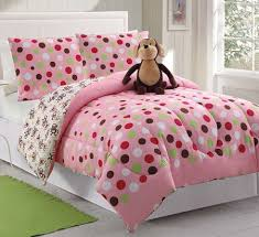 Girls Bed In A Bag by Pink Brown Monkey Bedding Full Bed In A Bag Polka Dot For Girls