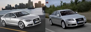 audi a6 headlights photo comparison new 2012 audi a6 vs old 2010 audi a6