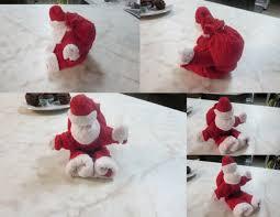 washcloth folding craft santa shirls pinterest craft towels