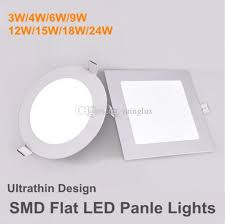 flat led ceiling lights 2018 round square smd panel lights 12w 9w 6w 4w 3w smart ic driver