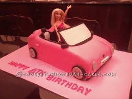 barbie red cars coolest homemade private car cakes