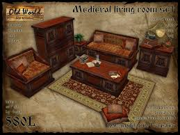 Furniture Set For Living Room by Second Life Marketplace Medieval Set For Living Room V1 Old
