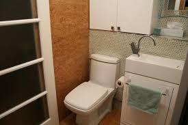 Narrow Powder Room - tiny laundry powder room contemporary powder room montreal
