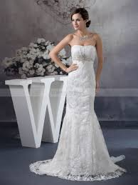 lace overlaid mermaid wedding gown with beaded decor