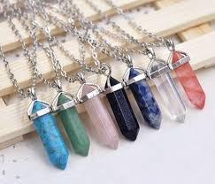 necklace crystal quartz images Dainty crystal quartz gemstone necklace pocket tokyo online png