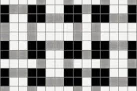 black basket weave tile pattern weave lunar by artaic