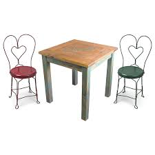 ice cream parlor table and chairs set cantina table set with 4 ice cream parlor chairs