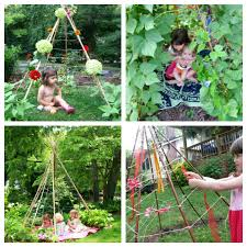 How To Grow Green Beans On A Trellis How To Make A Bean Pole Teepee For A Kids Garden