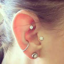 earring top of ear pin by saleha bhayat on sa piercing piercing and