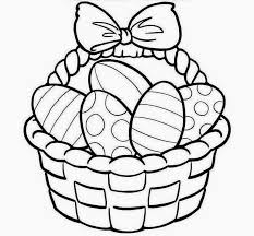 colour drawing free wallpaper easter basket coloring drawing free