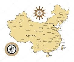 Chengdu China Map by China Map U2014 Stock Vector Fla 13490057