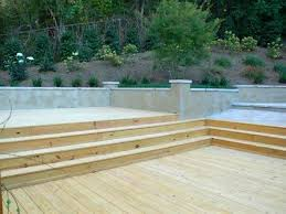 backyard decks on a slope home outdoor decoration