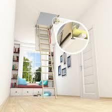 ecothermo 55cm x 111cm wooden loft ladder u0026 hatch h up to 280cm