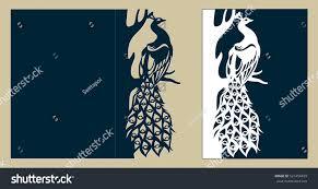 Wedding Invitation Greeting Cards Wedding Invitation Greeting Card Peacock On Stock Vector 521458459
