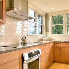 Glass Backsplashes For Kitchens Glass Subway Tile Spaces Traditional With 3x6 Backsplash 3x6 Glass