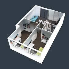 home plan bedroom house plans sq ft inspirations small design 3d 2