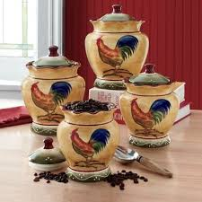 rooster canisters kitchen products 4 rooster canister set from seventh avenue dw79580