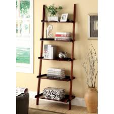 Narrow Leaning Bookcase by Leaning U0026 Ladder Bookcases Hayneedle