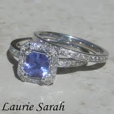 tanzanite wedding rings asscher cut tanzanite and wedding by lauriesarahdesigns