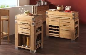 meuble cuisine en bois desserte billot caisses en bois massif sur