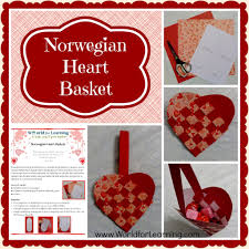 norwegian heart basket freebie valentine u0027s day fun world for