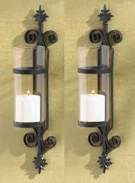Amazon Candle Sconces 2 Black Iron French Hurricane Candle Holder Wall Sconce Candle