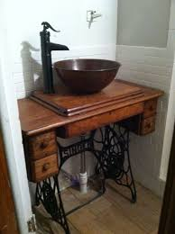 unique bathroom vanity ideas this is a sewing machine table from 1900 1920 we took out the