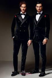 winter black velvet formal men suits two styles groom groomsmen
