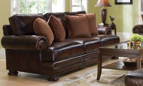Pictures Of Living Rooms With Leather Chairs Corbin 100 Leather U0026 Feather Sofa 92 Inch The Dump