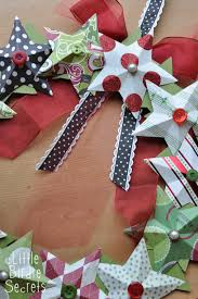 last minute christmas decorations 3d paper star wreath tutorial